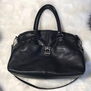 CALVIN KLEIN Pebbled Leather Handbag With Padlock